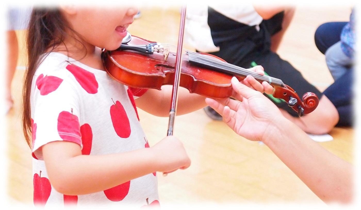 憧れのバイオリン体験♬